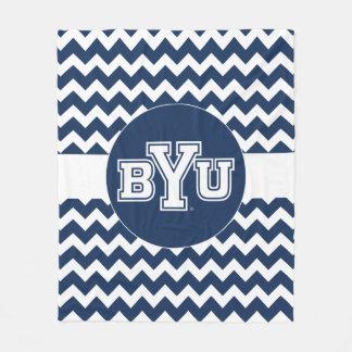 BYU | Chevron Pattern Fleece Blanket