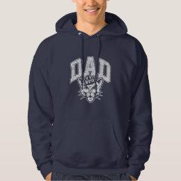 BYU Dad   Distressed Hoodie
