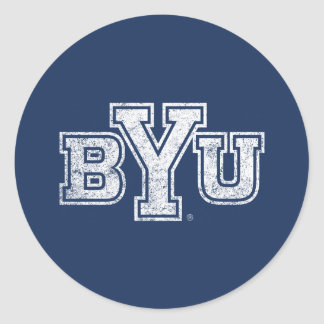 BYU | Distressed Classic Round Sticker