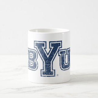 BYU | Distressed Coffee Mug
