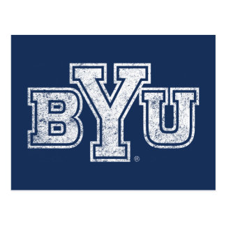 BYU | Distressed Postcard