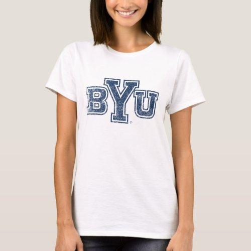 BYU  Distressed T_Shirt