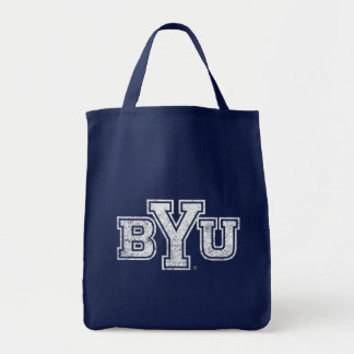 BYU | Distressed Tote Bag