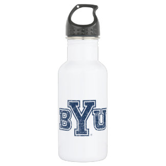 BYU | Distressed Water Bottle