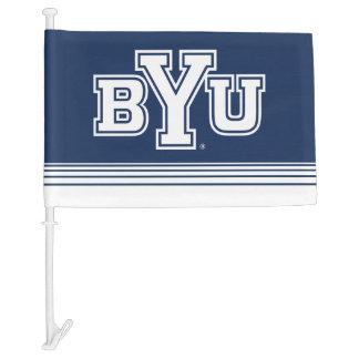 BYU | Stripes Car Flag