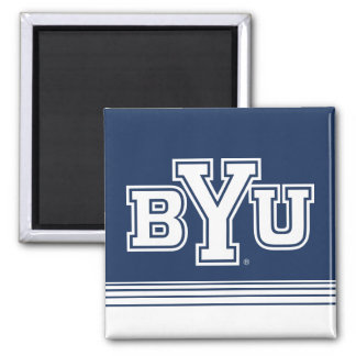 BYU | Stripes Magnet
