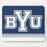 "BYU | Stripes Mouse Pad<br><div class=""desc"">Check out these new Brigham Young University designs!  Get all the latest Cougar gear here. All of these Zazzle products are customizable with your class year,  name,  and club. These products make perfect gifts for the BYU student,  alumni,  family,  friend,  or fan in your life. Go Cougs!</div>"