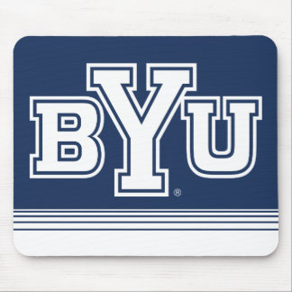 BYU | Stripes Mouse Pad
