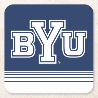 BYU | Stripes Square Paper Coaster