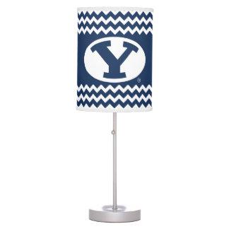 BYU Y | Chevron Pattern Table Lamp