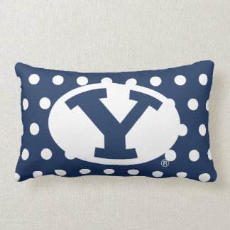 BYU Y | Polka Dot Pattern Lumbar Pillow