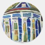 Bywater Blue Round Sticker