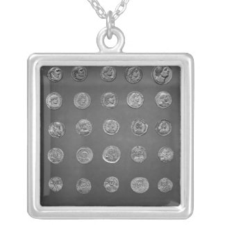 Byzantine and Roman coins, 04-10th century Silver Plated Necklace