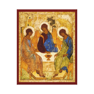 Byzantine Angels at a Table Canvas Prints