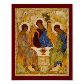 Byzantine Angels at a Table Posters