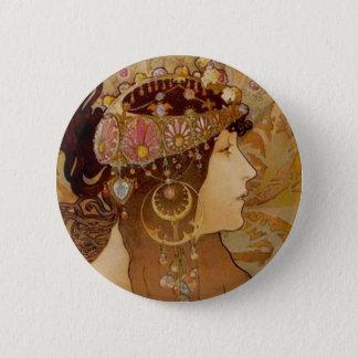 Byzantine Brunette, 1897 Button