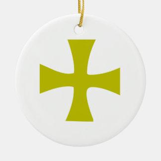 Byzantine Cross of Gold Christmas Tree Ornaments