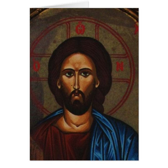 Byzantine Greek Orthodox Icon JESUS CHRIST Card