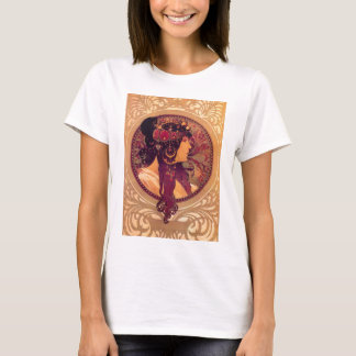 Byzantine Heads: Brunette Alfons Mucha T-Shirt