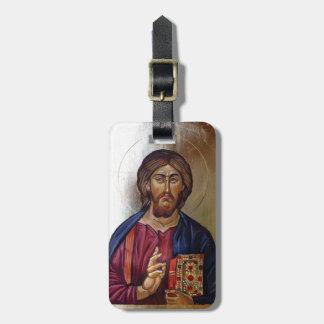 Byzantine Icon of Christ Pantocrator Bag Tag
