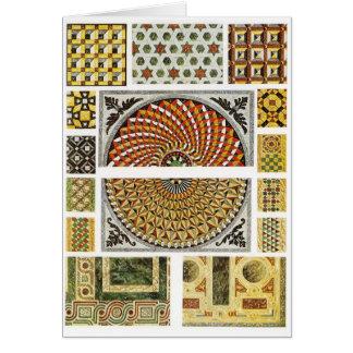 Byzantine Marble Floor Mosaic Card