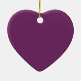 Byzantium Durable Monochromatic Double-Sided Heart Ceramic Christmas Ornament