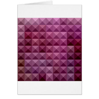 Byzantium Purple Abstract Low Polygon Background Card