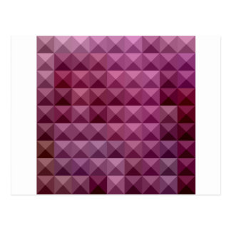 Byzantium Purple Abstract Low Polygon Background Postcard