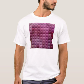 Byzantium Purple Abstract Low Polygon Background T-Shirt