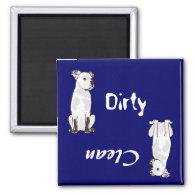 BZ- American Bulldog Dirty Paws Magnet