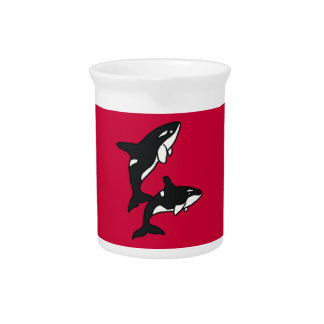 BZ- Awesome Leaping Killer Whale Pitcher