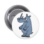 BZ botón divertido del rinoceronte Pins