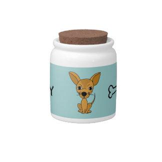 BZ- Funny Chihuahua Pet Treats Jar Candy Dish