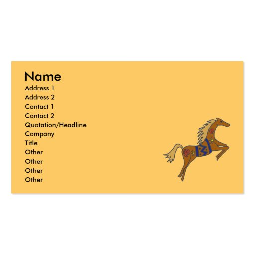 BZ- Galloping Horses Business card.. Business Card