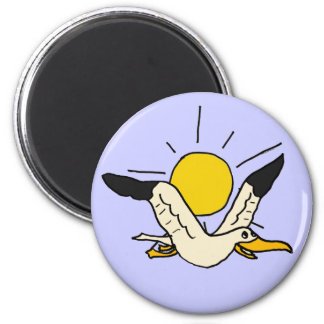 BZ imán divertido de la gaviota del dibujo animado