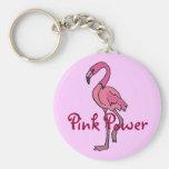 BZ llavero rosado del flamenco del poder