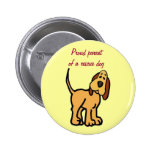 BZ- Proud parentof a rescue dog button