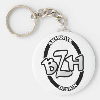 BZH Armorik Design Basic Round Button Keychain