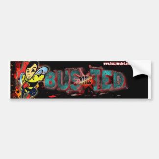 Bzzzz Busted Flaming Bumper Sticker Car Bumper Sticker
