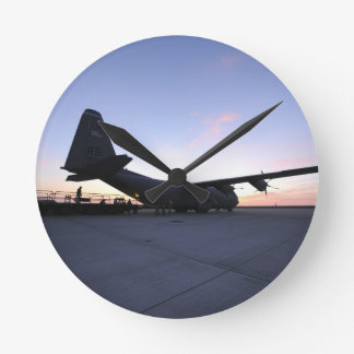 C130 AT DAWN ROUND CLOCK
