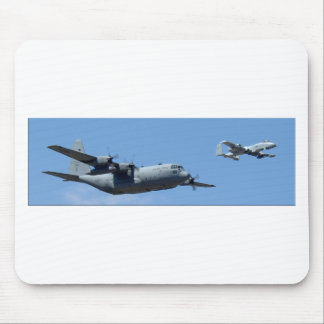 C130 HERCULES AND A10 WARTHOG IN FORMATION MOUSE PAD