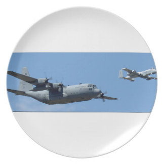C130 HERCULES AND A10 WARTHOG IN FORMATION PLATE