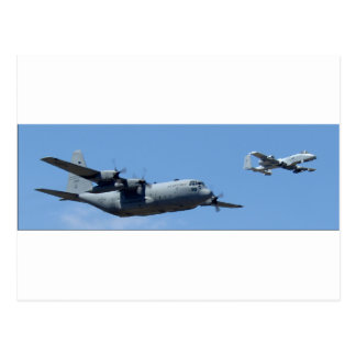 C130 HERCULES AND A10 WARTHOG IN FORMATION POSTCARD