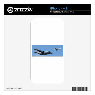 C130 HERCULES AND A10 WARTHOG IN FORMATION SKINS FOR iPhone 4S