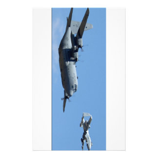 C130 HERCULES AND A10 WARTHOG IN FORMATION STATIONERY