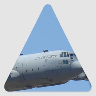 C130 HERCULES AND A10 WARTHOG IN FORMATION TRIANGLE STICKER
