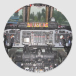 C141 Starlifter Aircraft Cockpit Classic Round Sticker