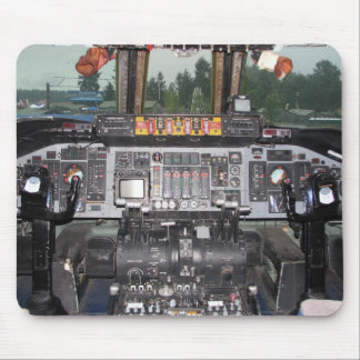 C141 Starlifter Aircraft Cockpit Mouse Pad