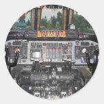 C141 Starlifter Aircraft Cockpit Classic Round Sticker