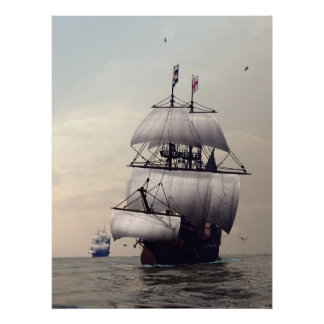 C16th  Frigates Posters
